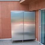 armadio in acciaio inox per terrazza copertura caldaia