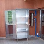 armadio in acciaio inox per terrazza copertura caldaia1