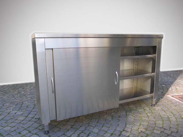 mobile in acciio inox da esterno o terrazza
