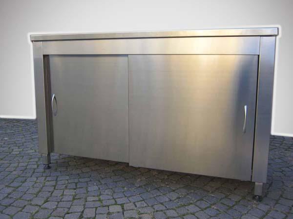 Mobile in acciaio inox per esterno mancabelli craft and design - Mobile da esterno ...
