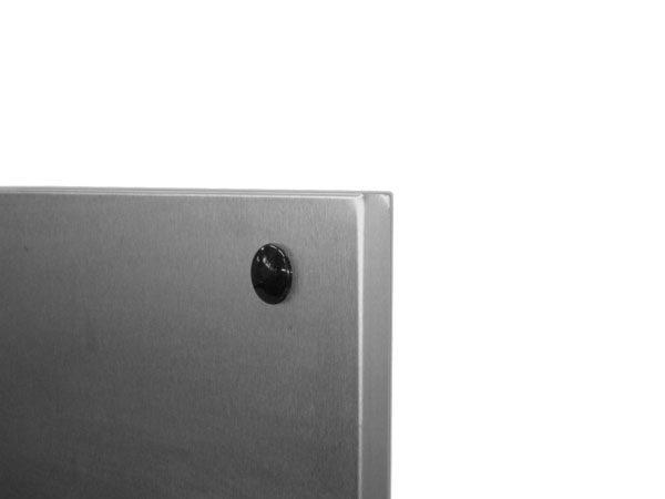 particolare lavagna magnetica in acciaio inox
