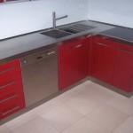 piano cucina in acciaio inox