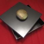 scatola in ferro naturale con pomolo in pietra1