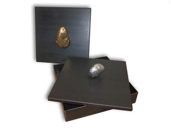 scatola in ferro naturale con pomolo in pietra2