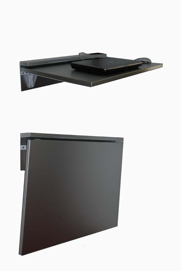 scrivania in acciaio inox ribalta