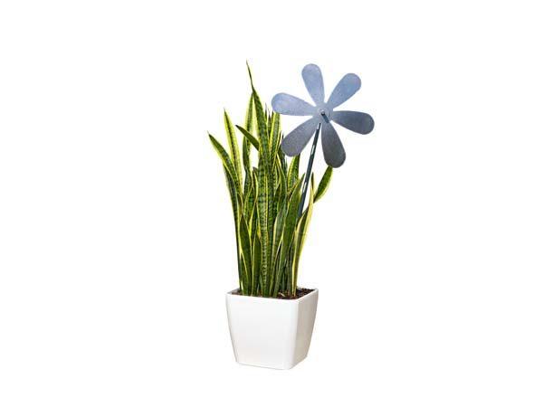 decorazione giardino a fiore in acciaio inox
