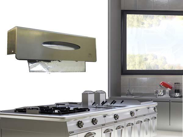dispenser porta pellicole in acciaio inox 1