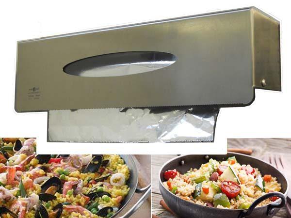 dispenser porta pellicole in acciaio inox 2