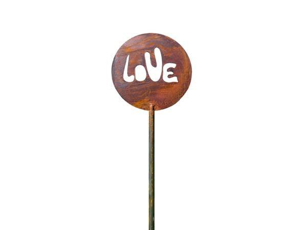 love ornamenti-decorazioni giardino con stelo in corten2