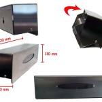 misure dispenser porta pellicole in acciaio inox