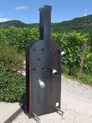portabottiglie in ferro naturale