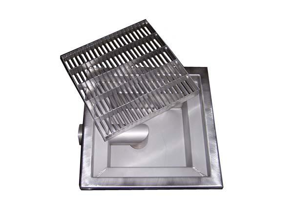 pozzetto di scarico in acciaio inox