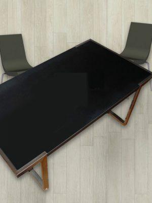 tavolo in ferro con gambe in acciao