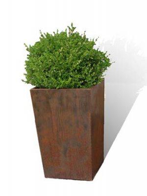 vaso fiori in corten