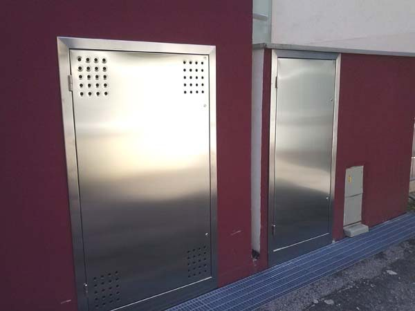 armadio areazione in accio inox