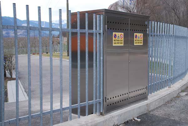 armadio in acciaio inox contatore gas areato