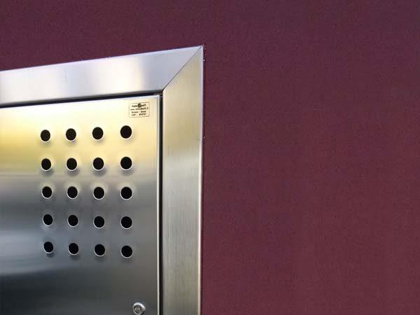 particolaree armadio areazione in acciaio inox