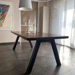 base tavolo in ferro naturale cerato 2