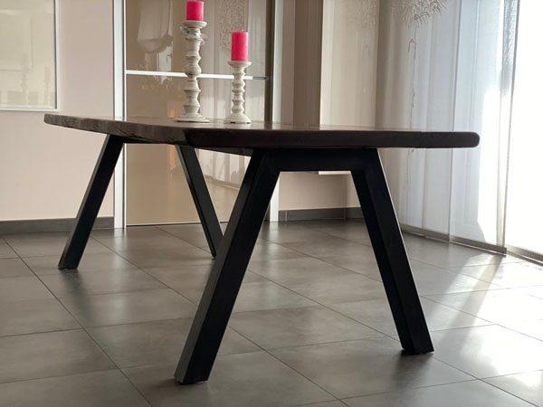 base tavolo in ferro naturale cerato