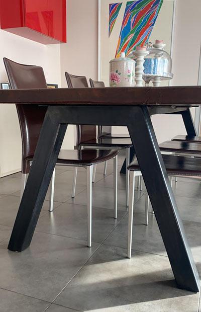 gambe tavolo in ferro naturale cerato 1